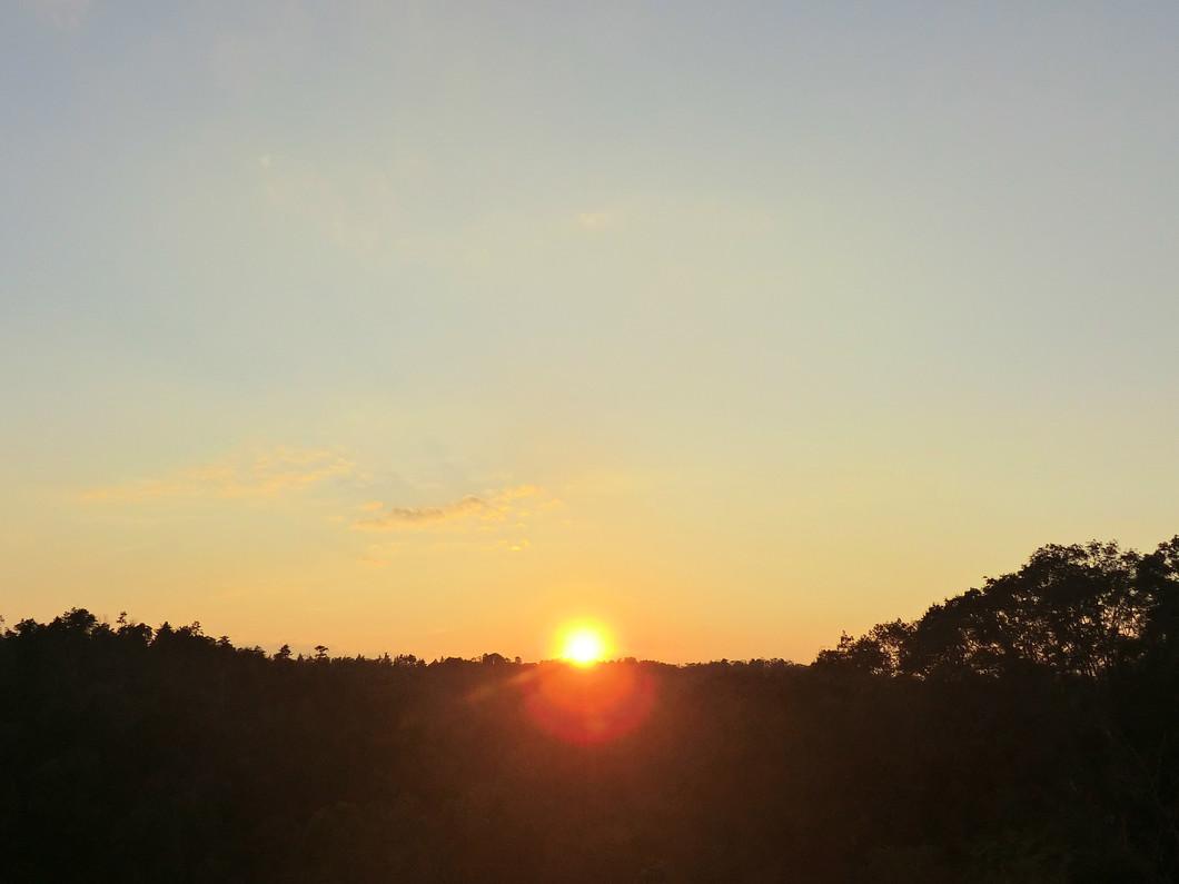 名前の由来となった夕陽